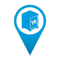 Icono localizacion simbolo caja fuerte