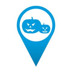 Icono localizacion simbolo calabaza de halloween