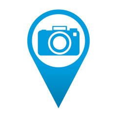 Icono localizacion simbolo camara fotografica