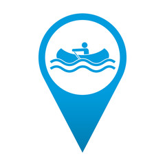 Icono localizacion simbolo canoa