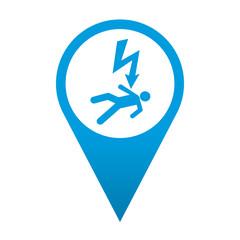 Icono localizacion simbolo descarga electrica
