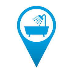 Icono localizacion simbolo bañera