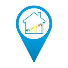 Icono localizacion simbolo eficiencia energetica
