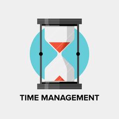 Time management flat illustration
