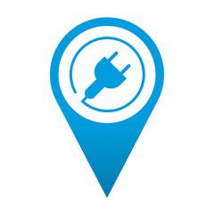 Icono localizacion simbolo energia electrica