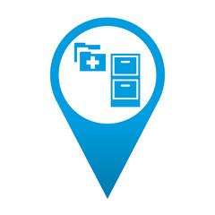 Icono localizacion simbolo expediente medico