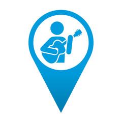 Icono localizacion simbolo guitarrista