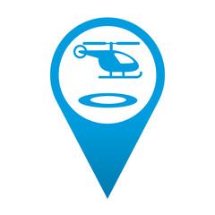 Icono localizacion simbolo helipuerto