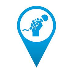 Icono localizacion simbolo karaoke