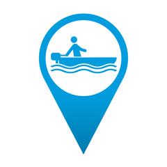 Icono localizacion simbolo lancha motora