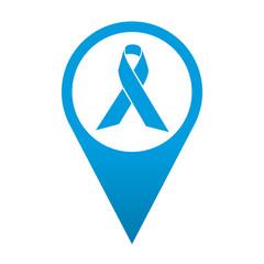 Icono localizacion simbolo lazo solidario