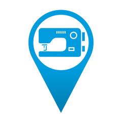 Icono localizacion simbolo maquina de coser