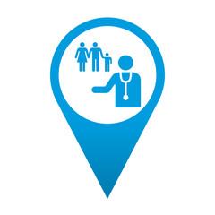 Icono localizacion simbolo medico de familia