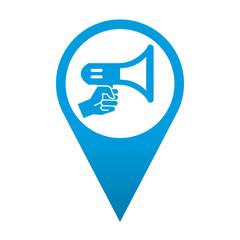 Icono localizacion simbolo megofono