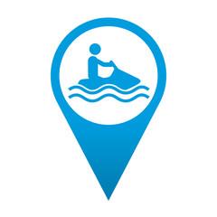 Icono localizacion simbolo moto acuatica