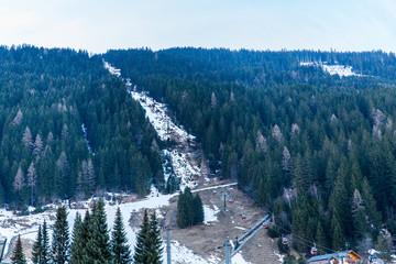 Ski resort town Bad Gastein in winter snowy mountains