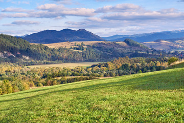 The Pieniny Mountains idyllic landscape, Carpathians.