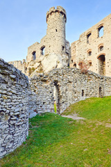 Ruins of The Ogrodzieniec Castle. Point of interest in Poland.