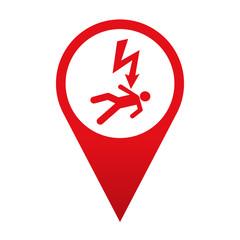 Icono localizacion simbolo peligro descarga electrica