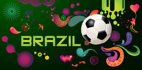 Brasilien-design Soccer