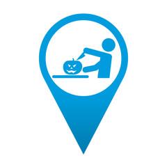 Icono localizacion simbolo talla de calabaza