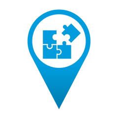 Icono localizacion simbolo puzzle