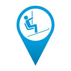 Icono localizacion simbolo telesilla