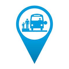 Icono localizacion simbolo autobus escolar