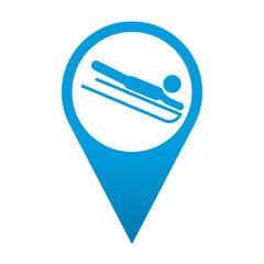 Icono localizacion simbolo trineo