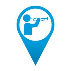 Icono localizacion simbolo trompetista