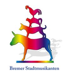 Bremer Stadtmusikanten 2, Regenbogenfarben