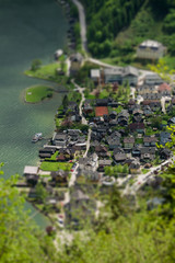 Hallstatt town, miniature (tilt-shift) simulation