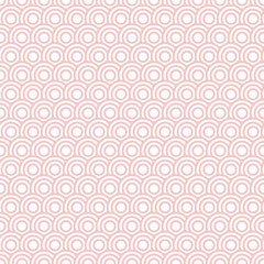 Retro Seamless Pattern Circles Rose