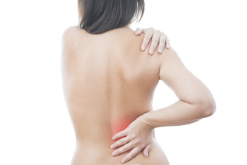 Pain in back of women