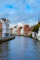street of old town of  Bruges