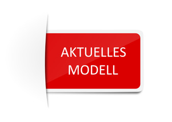 Schild aktuelles Modell