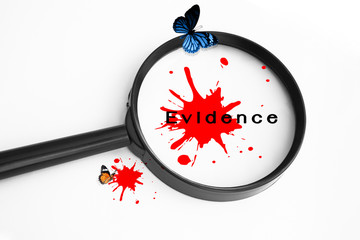 Evidence,Crime Concept Background