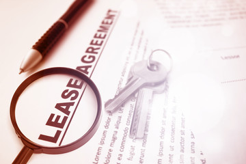 Lease Agreement,For Real Estate Concept Background