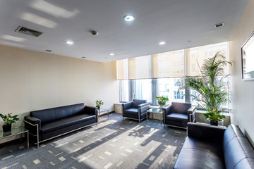 rest room in modern office building