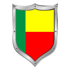 Benin flag button.