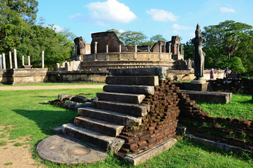 Memorable ruins Polonnaruwa  Sri Lanka a sacred place