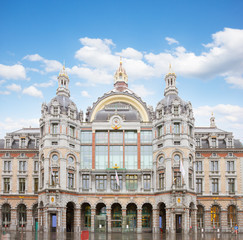 facade of Antwerpen Central Railway Station