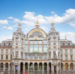 facade of Antwerpen Central Railway Station