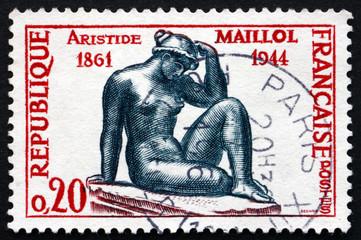 Postage stamp France 1961 Mediterranean, by Aristide Maillol
