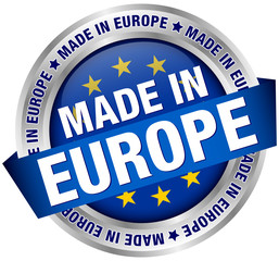 """Made in Europe"" Button Banner"