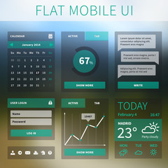 Vector flat Mobile Web UI interface