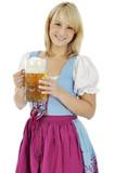 """Frau in Dirndl als Trachtenkleid zum Oktoberfest "" Stock photo and royalty-free images on ..."