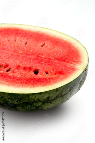 Closeup of watermelon on isolated background