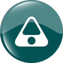 Attention caution sign icon. Hazard warning symbol
