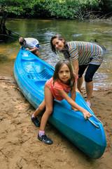 sortie familiale en kayak